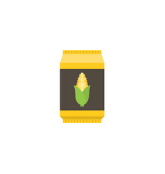 corn starch in paper package flat design icon vector image vector image