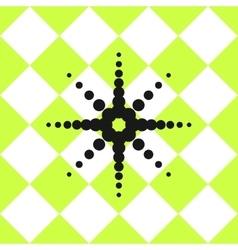 Floor ceramic tiles pattern green with black star vector image vector image