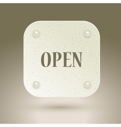 Open icon with rivets vector image