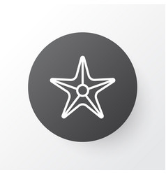 sea star icon symbol premium quality isolated vector image vector image