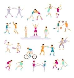 Set Sport people activities vector image