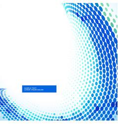 stylish blue halftone wave background vector image