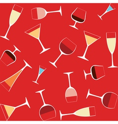 alcohol in glasses vector image vector image