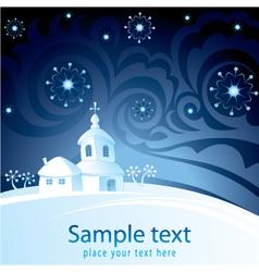 Decorative christmas-card vector