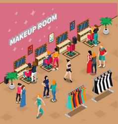 makeup room fashion isometric vector image vector image