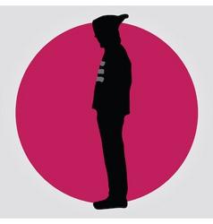 man in hoodie vector image vector image