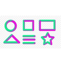 set of multicolored convex vector image vector image