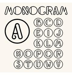 Vintage Art Nouveau font for your monogram vector image