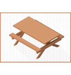 Wooden table 3d vector