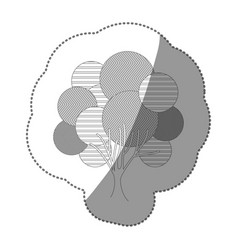 contour stamp creative tree icon vector image