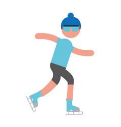ethlete practicing ice skate avatar vector image