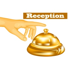 Hotel receptionist vector