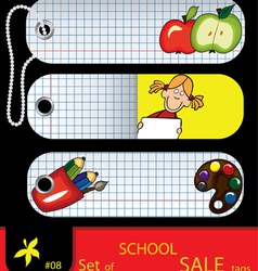 price tags school vector image vector image