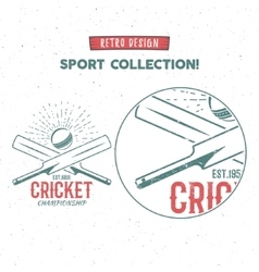 Retro cricket logo icon design Vintage vector image vector image