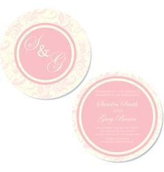 round wedding invitation pink copy vector image vector image