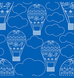seamless pattern with air ballons vector image