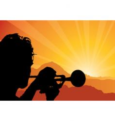trumpet player vector image vector image