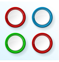 white push buttons with colored frames vector image