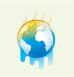 global warming stylized symbol vector image vector image
