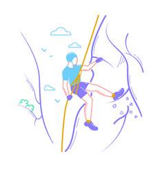 icon of a climber vector image vector image