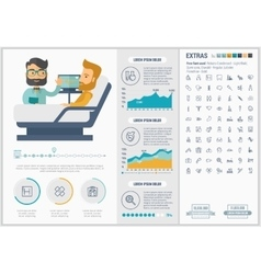 Medicine flat design Infographic Template vector image