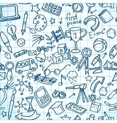 Seamless school doodles vector image vector image