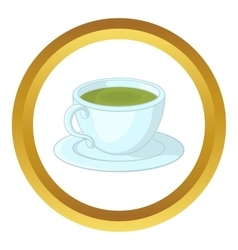 A cup of tea icon vector
