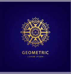 Abstract geometric symbol linear alchemy vector