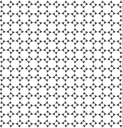 Abstract monochrome geometric seamless pattern vector image