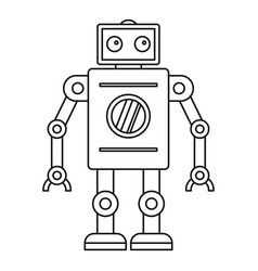 abstract robot icon outline style vector image