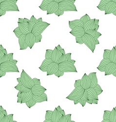 Abstract seamless pattern of green leaves vector
