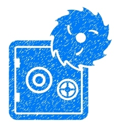 Bank safe hacking theft grainy texture icon vector