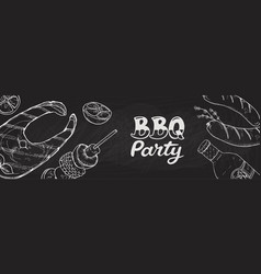 bbq party posters vector image