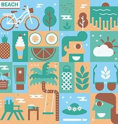 Beach Concept vector image