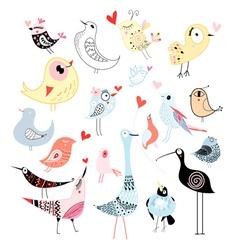 Beautiful graphics birds vector