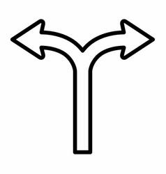 bifurcation icon vector image