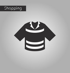 Black and white style icon polo shirt vector