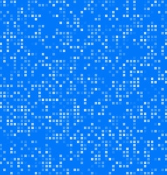 Blue square pixel mosaic background vector
