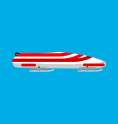 bobsled sport icon winter game race speed snow vector image