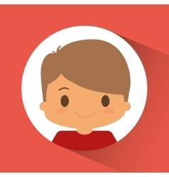 Boy kid inside circle design vector