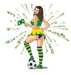 Brasil Soccer Fan vector image