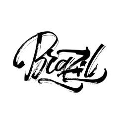 Brazil modern calligraphy hand lettering for vector