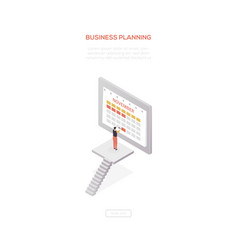 business planning - modern isometric web vector image
