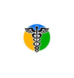 caduceus medical sign logo vector image