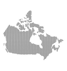 Canada map country abstract silhouette of wavy vector