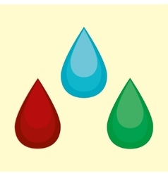 cartoon water blood oil vector image