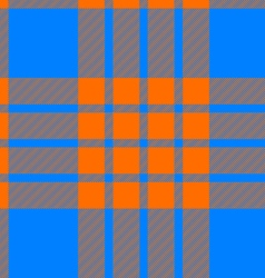 Clan tartan seamless background orange and blue vector