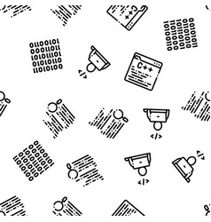 coding system seamless pattern vector image