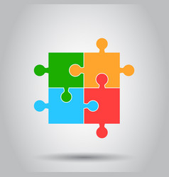 colorful jigsaw puzzle flat puzzle game simple vector image