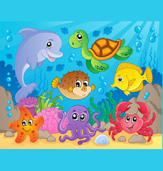 Coral reef theme image 5 vector